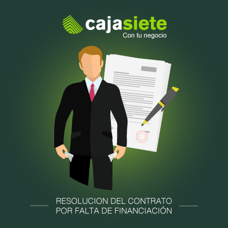Resolución de contrato por falta de financiación