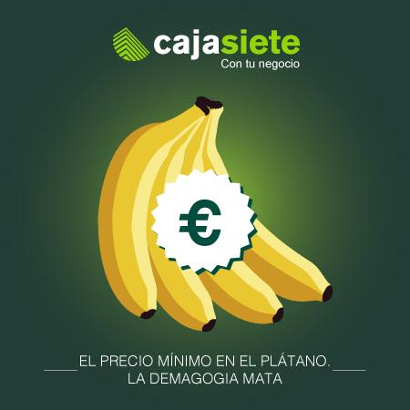 El precio mínimo en el plátano. La demagogia mata.