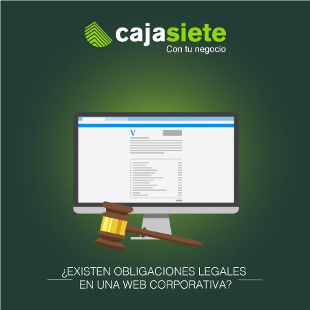 ¿Existen obligaciones legales en una web corporativa?