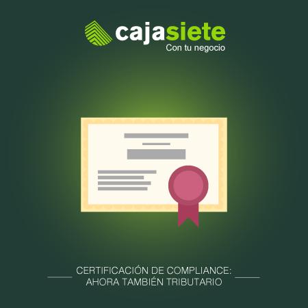 Certificación de compliance: ahora también tributario