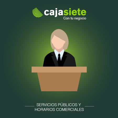 Servicios públicos y horarios comerciales