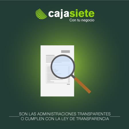 Son las administraciones transparentes o cumplen con la ley de transparencia